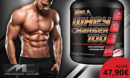 Super προσφορά στη Whey Charger της Tesla από το Muscle Club!